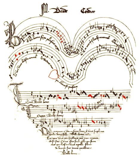 Seasonal-Valentine-Medieval-music-shaped-like-a-heart