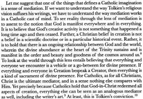 Tolkien's Catholic Imagination