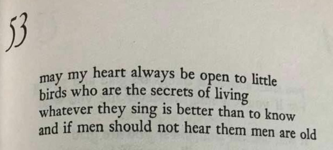 e.e. cummings poem 53, stanza 1
